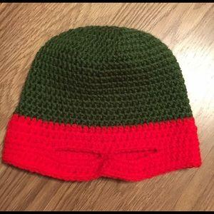 Other - Handmade red ninja turtle crochet hat!